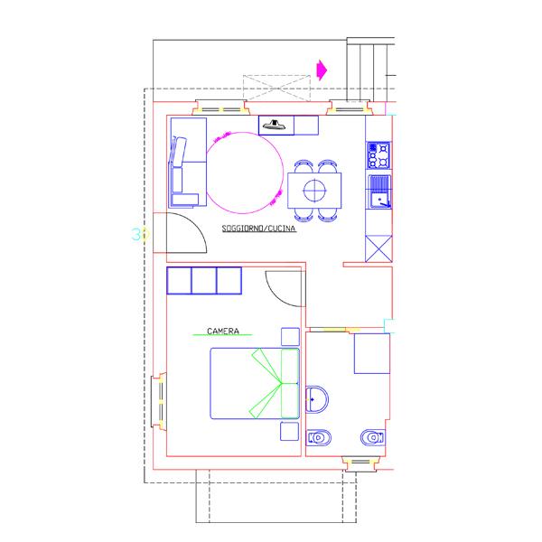 Piantine Appartamento Tre - Casa di Gino