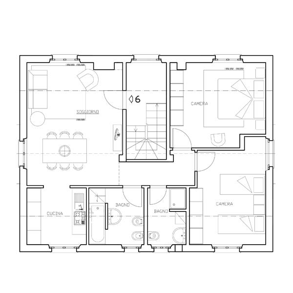 Piantine Appartamento Sei - Casa di Gino
